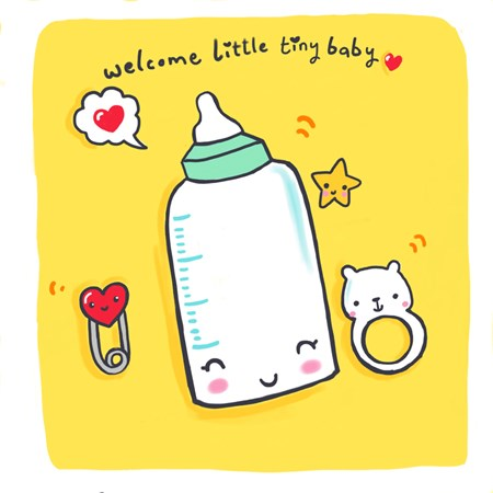 Welcome Tiny Baby - Quirky New Baby Card