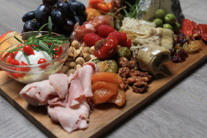 cured meats and cheeses