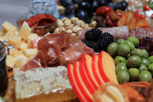 charcuterie board made in usa cured meats and cheeses