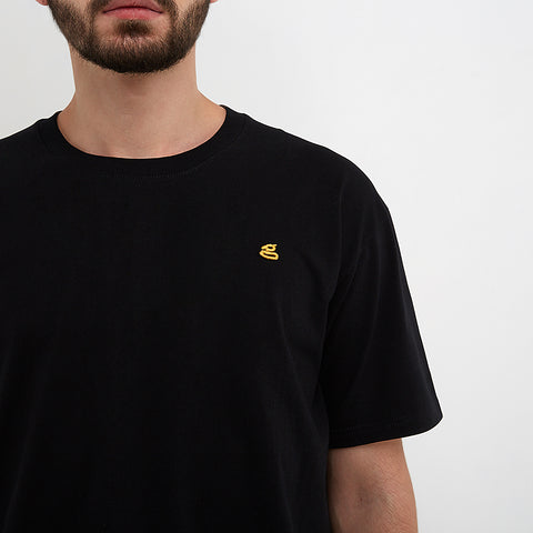 Austin Embroidered Black T-Shirt