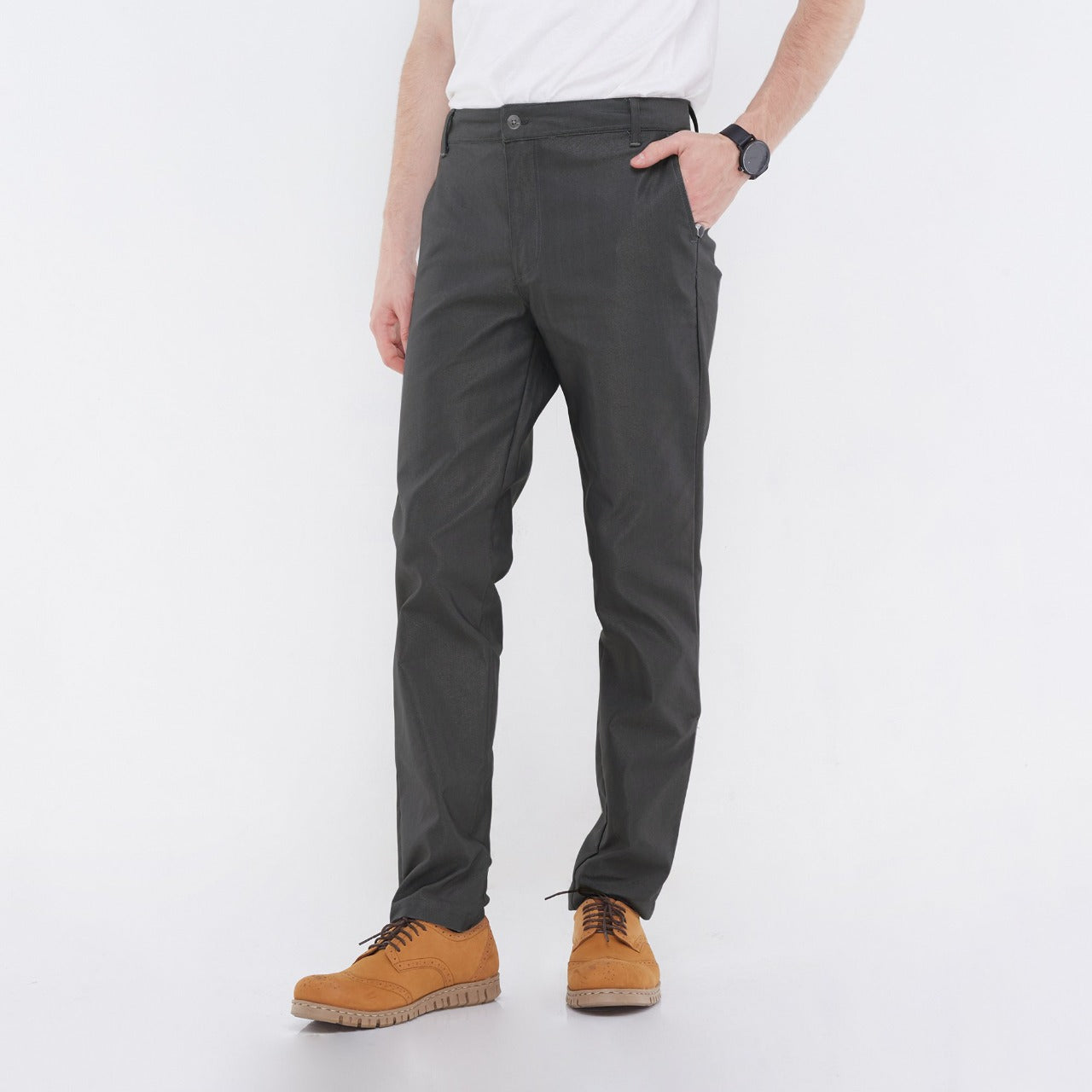 Fabio Dark Gray Chino Pants
