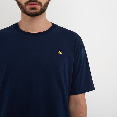 Austin Emroidered Navy T-Shirt