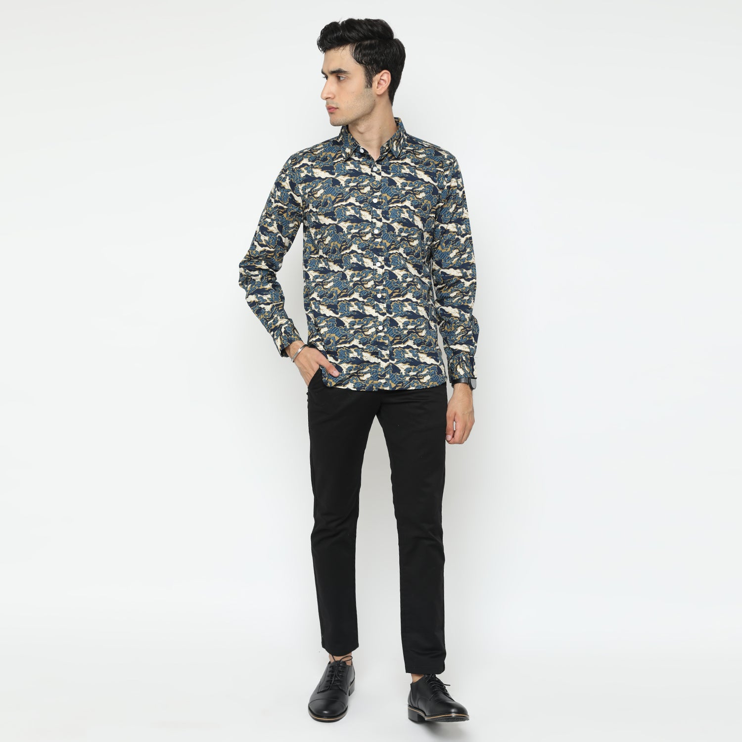 Dane Camo Gold Long Sleeve Shirt