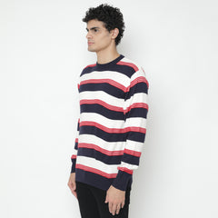 Layers Navy White Knitwear