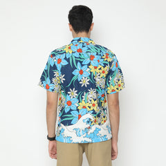 Tahitian Blue Camp Collar Shirt