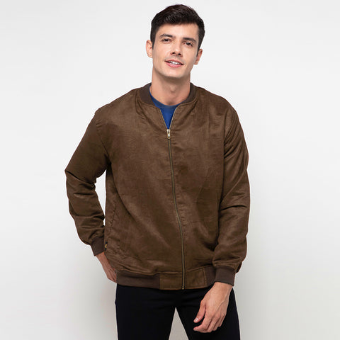 Seth Suede Dark Brown Bomber