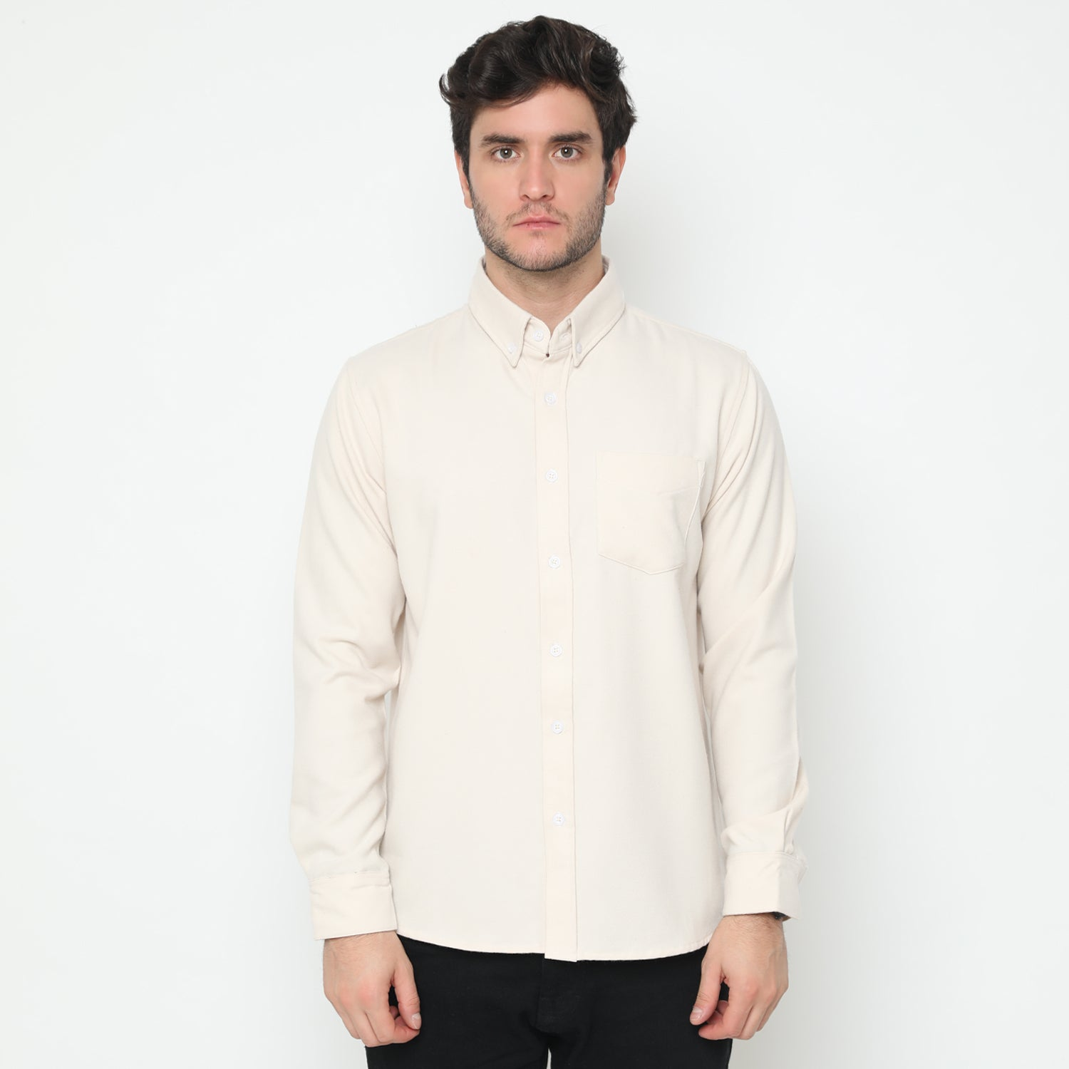 Edward Broken White Flannel Shirt
