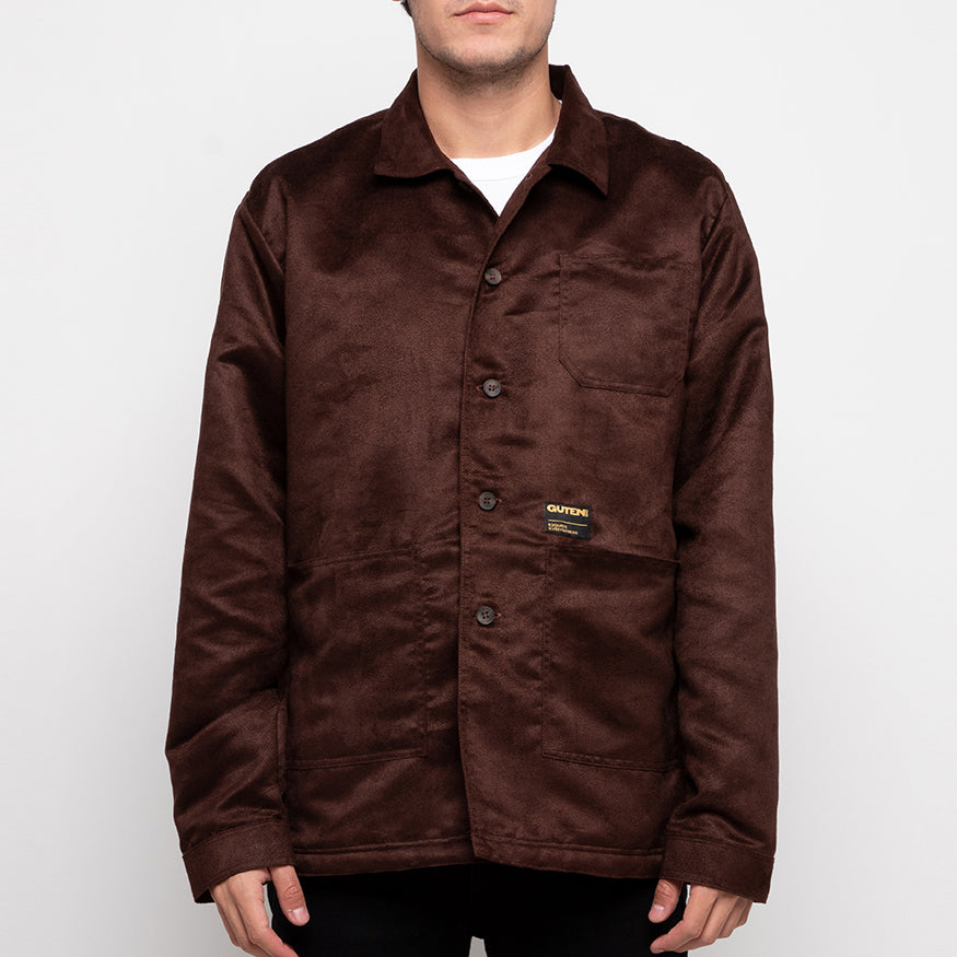 Crosby Suede Field Jacket Dark Brown
