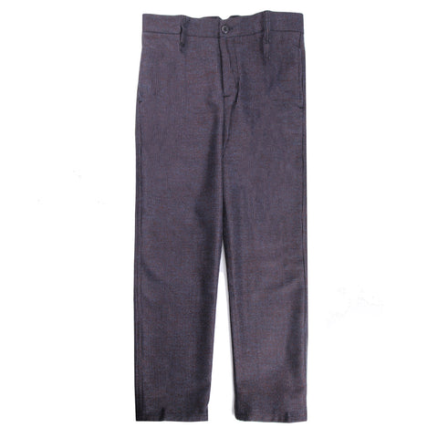 Danilo Navy Wool Pattern Ankle Pants