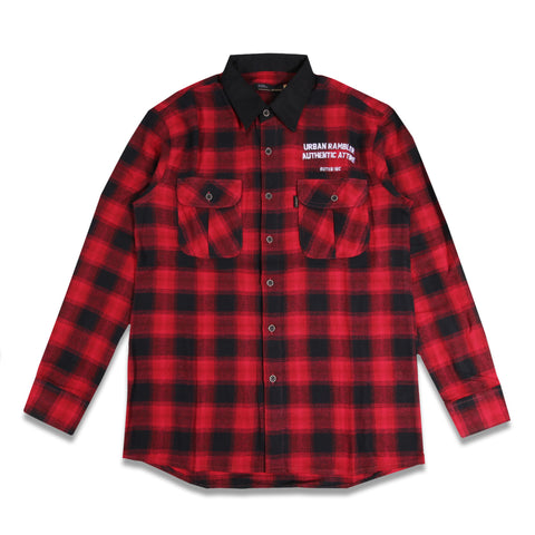 Devante Flannel Red Black Shirt