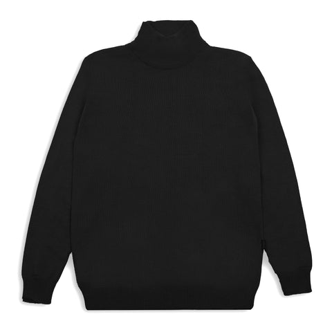 Geraldyn Turtleneck Black Shirt