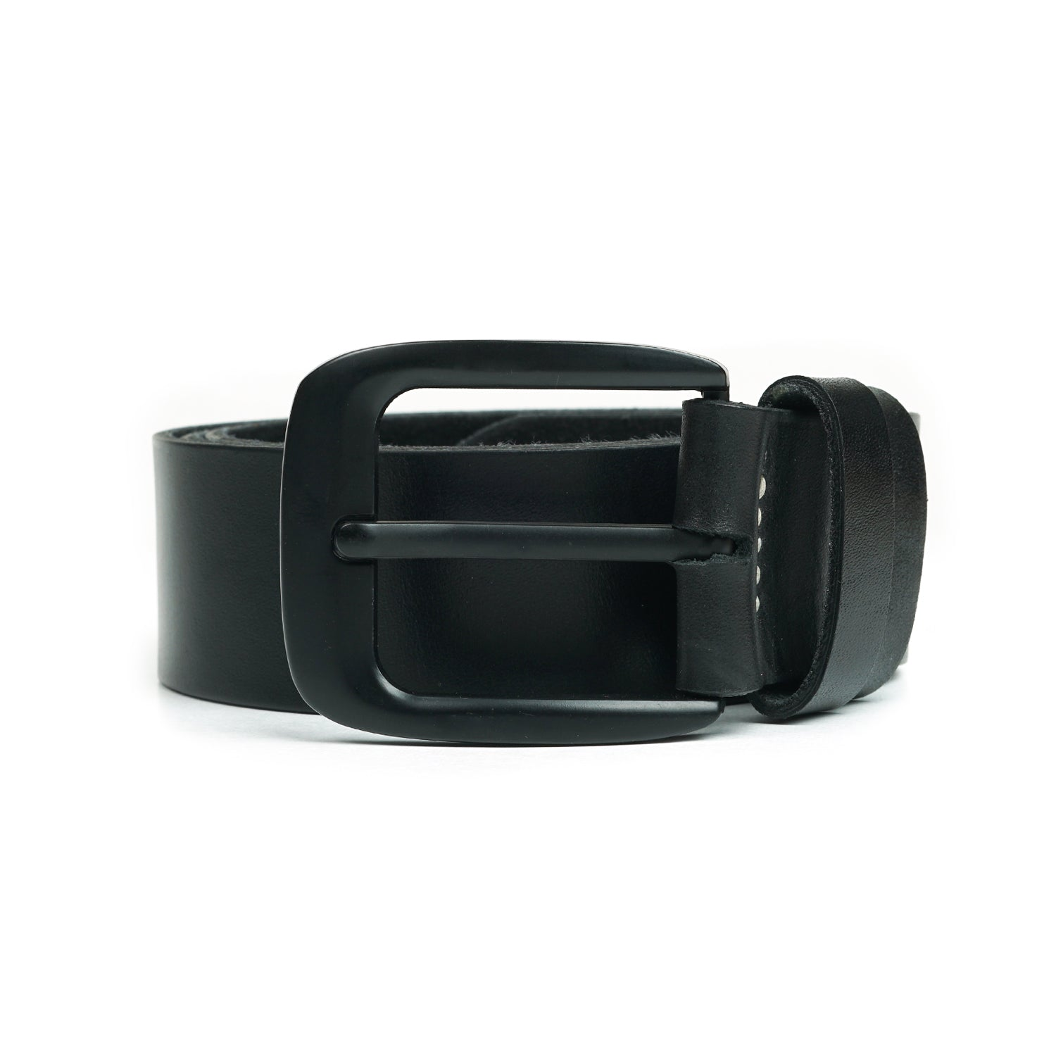 Greg Black Leather Belt