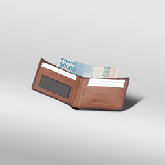 Sculley Thin Billfold Wallet Brown