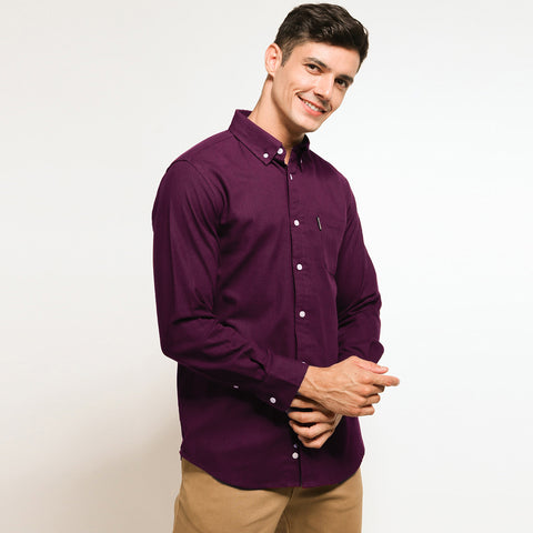 Prive Linen Shirt Maroon