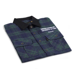Devante Flannel Green Blue Shirt
