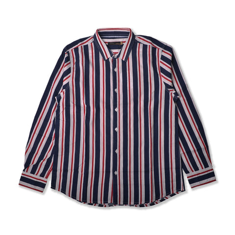 Andy Stripes Shirt Navy Red LS