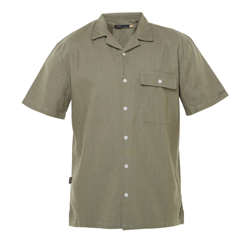 Yvelines Green Camp Collar Shirt