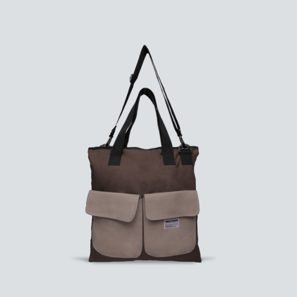 Windsor Totebag Brown Grey
