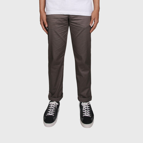 Fabio Pale Dark Brown Chino Pants