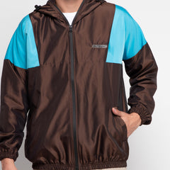 Bolt Windbreaker Dark Gold Baby Blue
