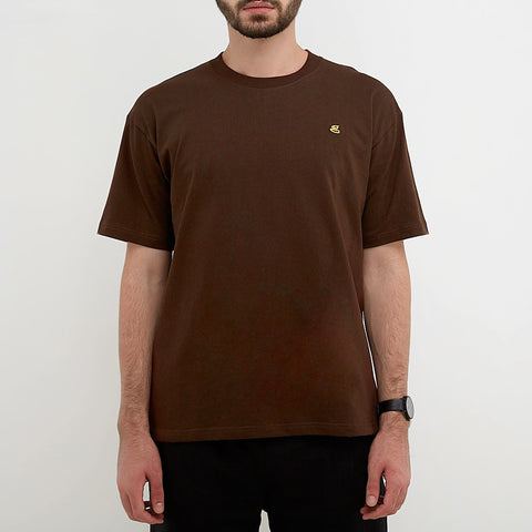 austin emroidered brown t-shirt