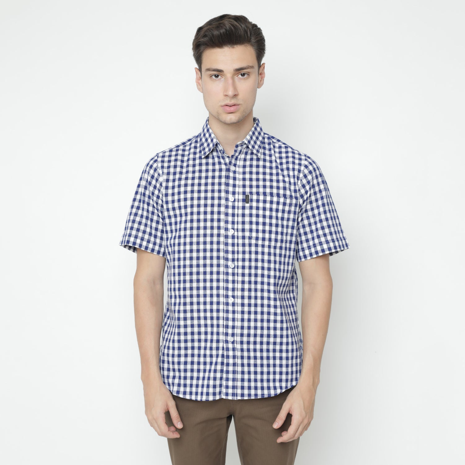 Saville Plaid Blue Shirt