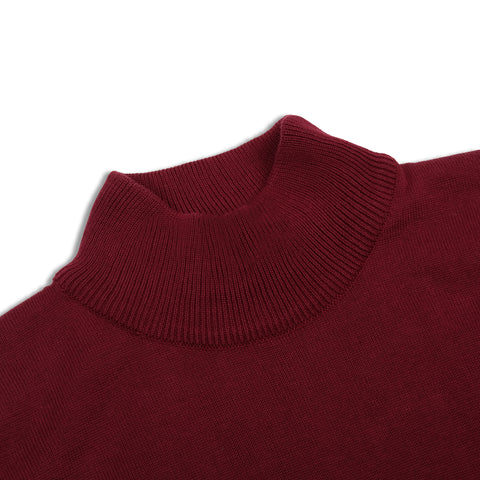 Geraldyn Turtleneck Maroon Shirt