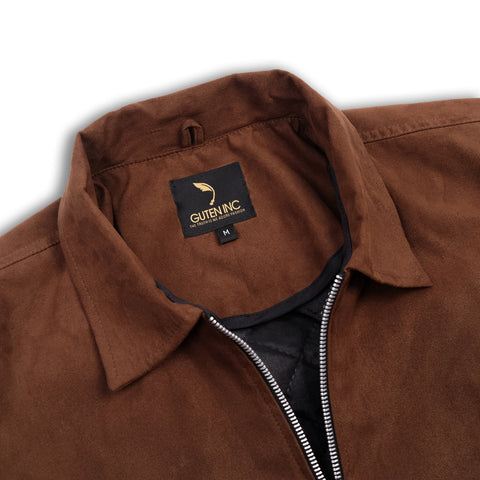 Clinton Suede Jacket Brown