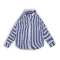 Devin Navy Stripes Shirt LS