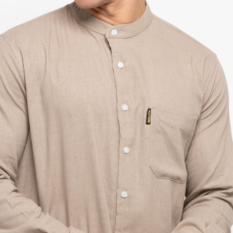 Elias Light Brown Shirt