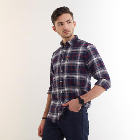 Clifford Flannel Shirt Blue Grey
