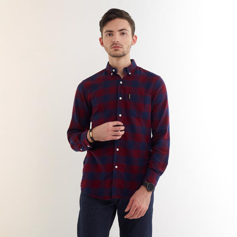 Clifford Flannel Shirt Blue Red