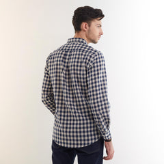 Wales Navy Plaid Shirt
