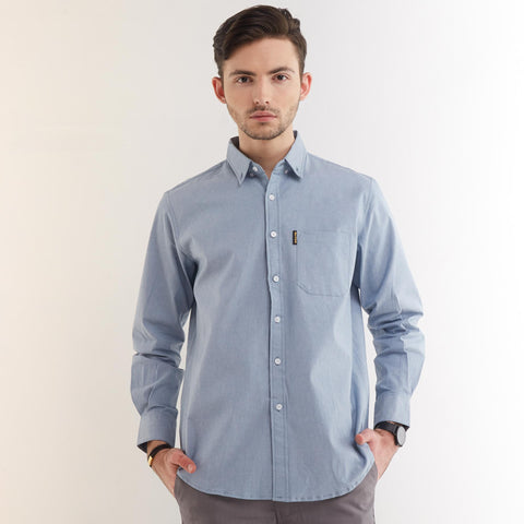 Freo LS Shirt Denim Blue