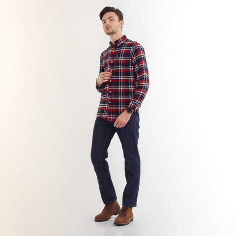 Clifford Flannel Shirt Red White