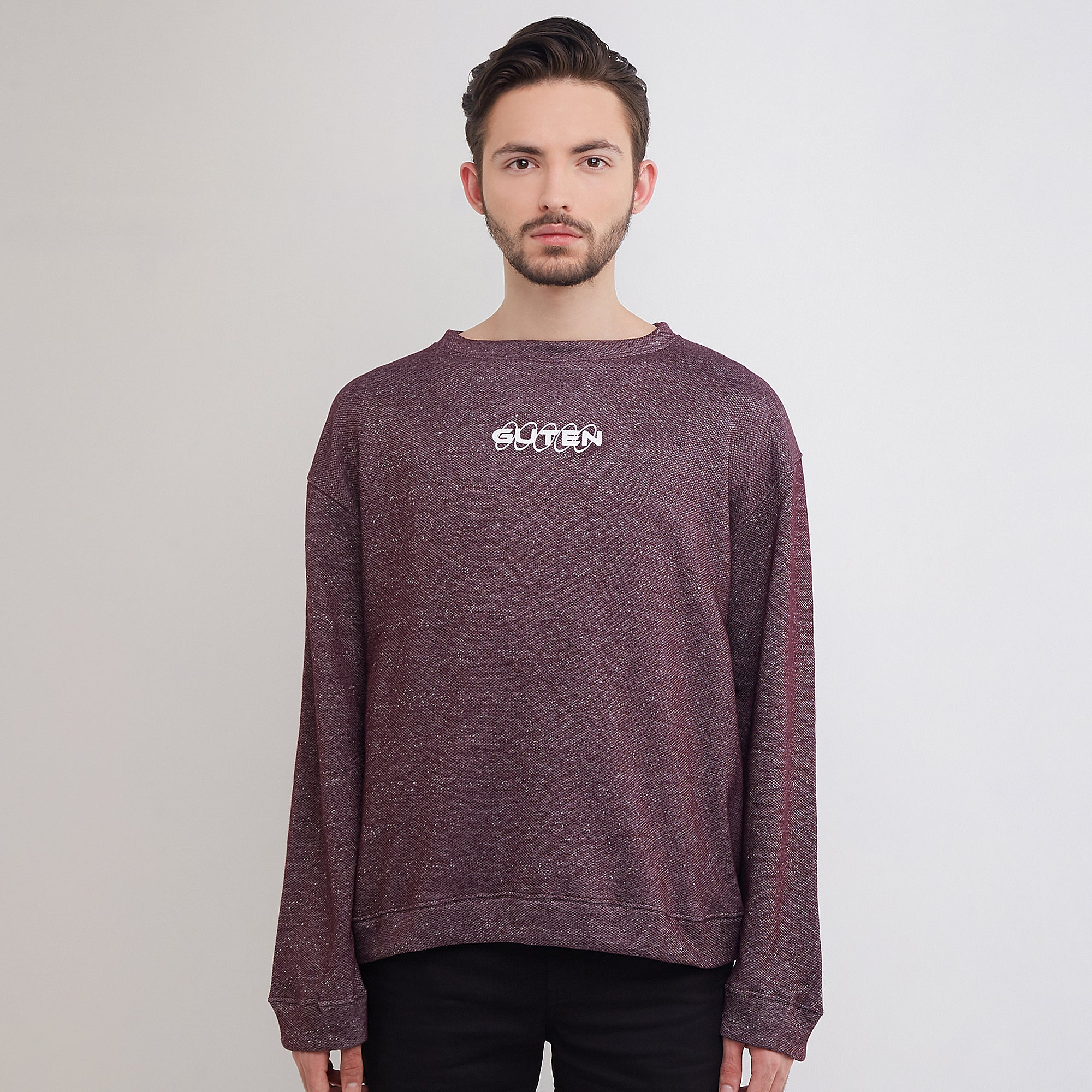 Guteninc Futuretype Crewneck Two Tone Maroon