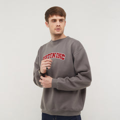OG College Solid Grey Crewneck Sweatshirt