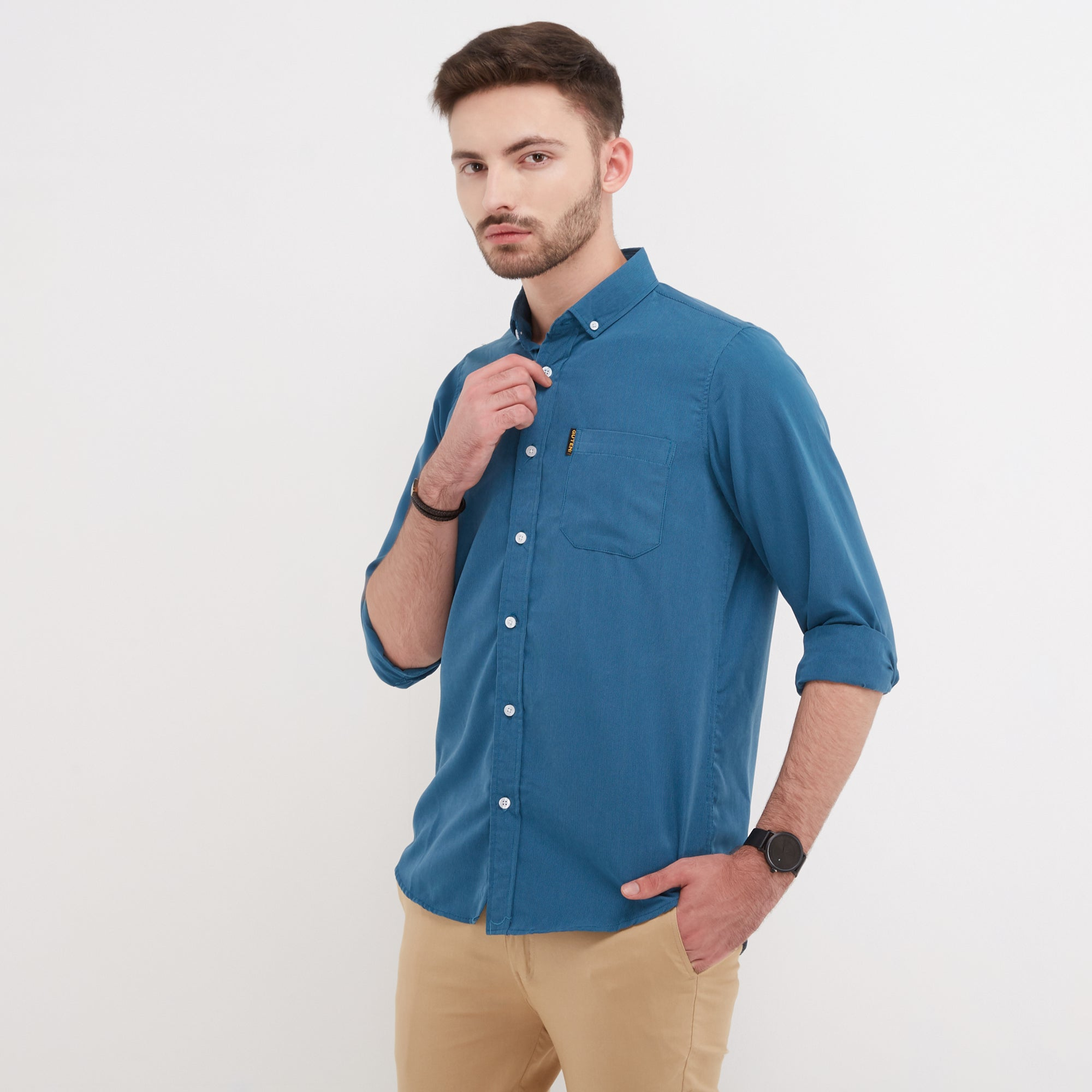Rory Two Tone Blue Shirt