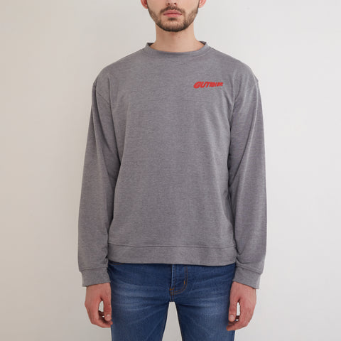 Adrenalin Crewneck Misty Grey