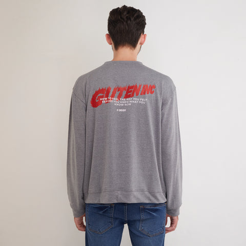 Adrenaline Crewneck Misty Grey
