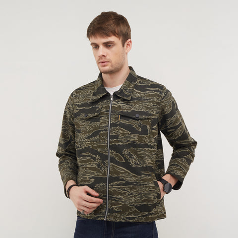 Atlas Green Camo Parka