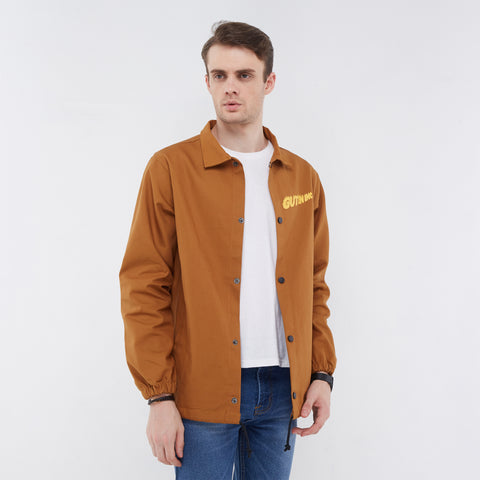Florida Canvas Coach Jacket Brown