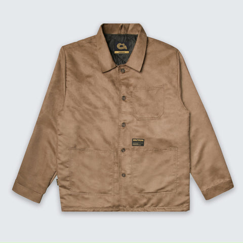Crosby Suede Field Jacket Desert Brown