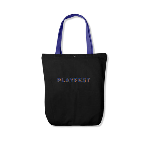 Playfest Typeface Totebag Black