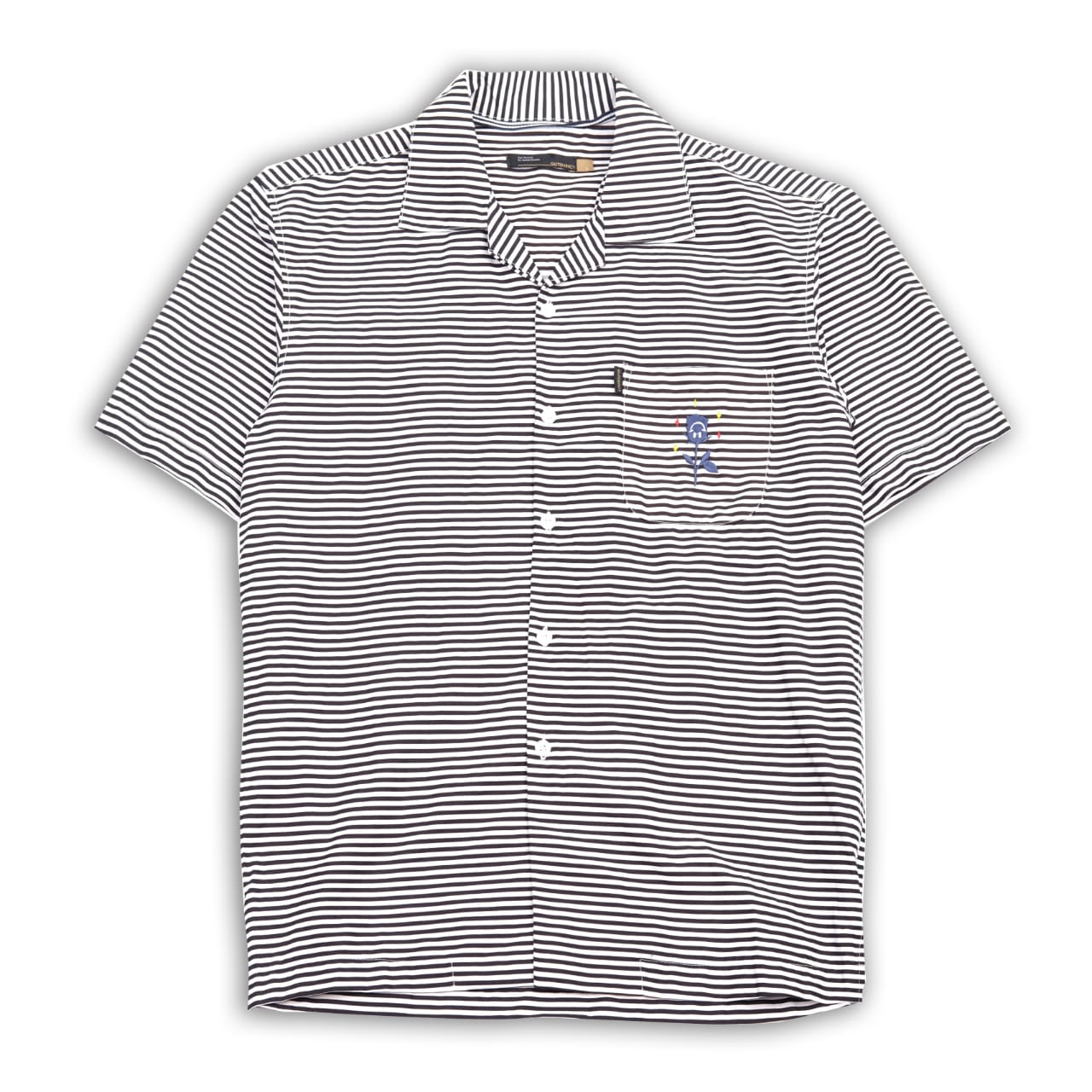 Gustav Camp Colar Black Stripes Shirt