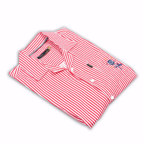 Gustav Camp Colar Red Stripes Shirt