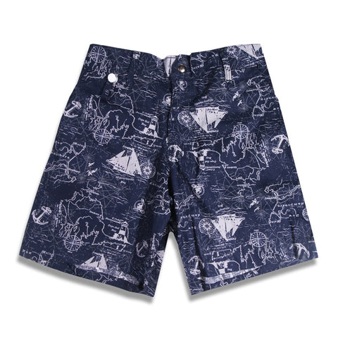 Boat Short Navy Compass