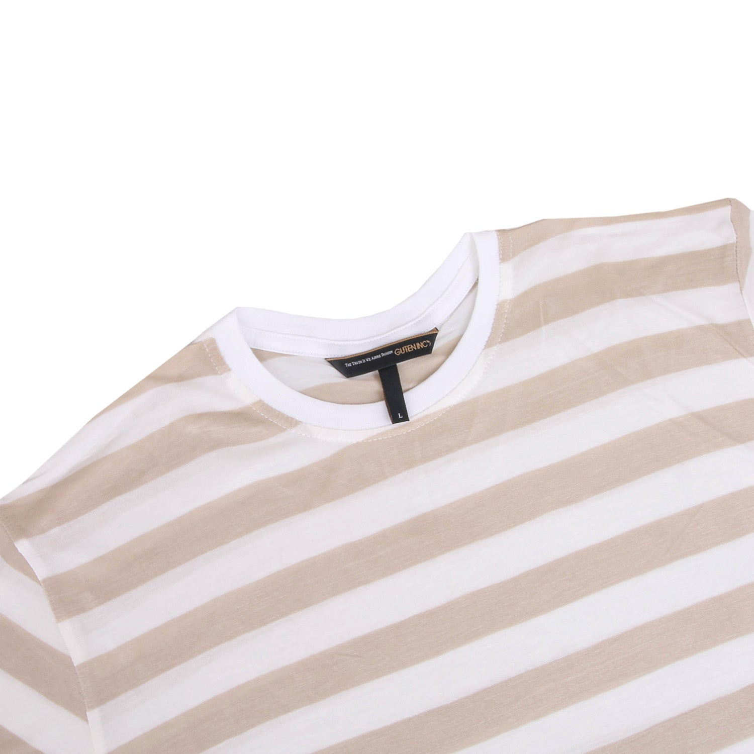 Chester Cream White Big Stripe