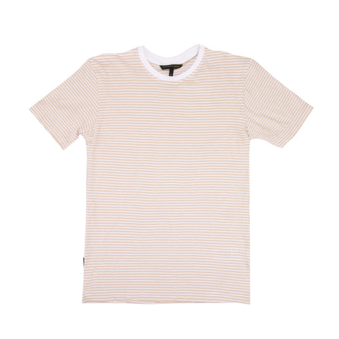 Chester Cream White Small Stripe