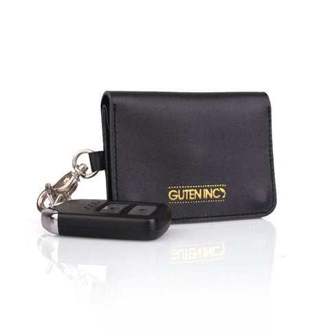 Colton Leather Card Holder Black - GUTENINC ID